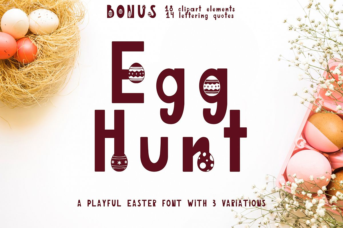 Egg Hunt-decorated font example image 1