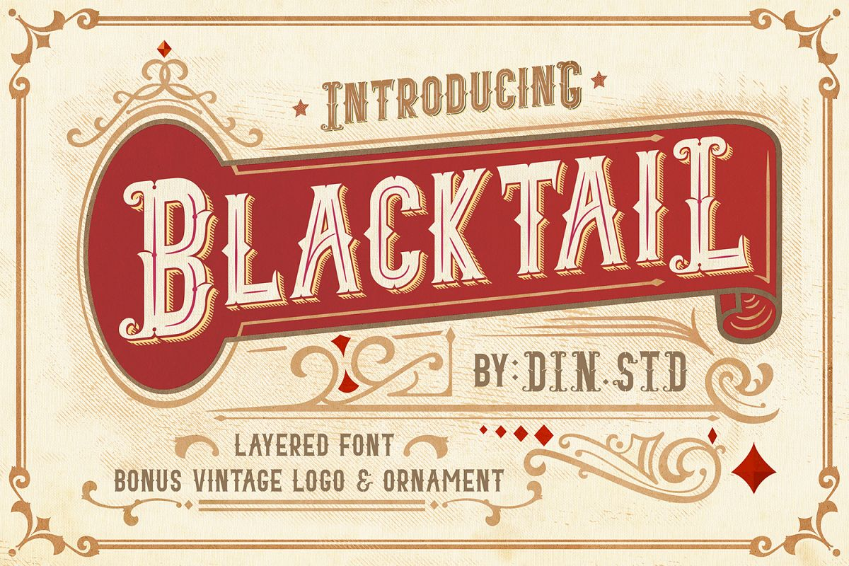 Blacktail Font -INTROSALE 25 example image 1