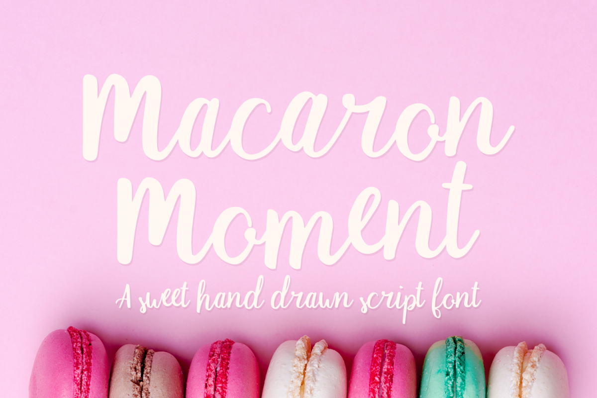 Macaron Moment - a sweet hand drawn script font example image 1