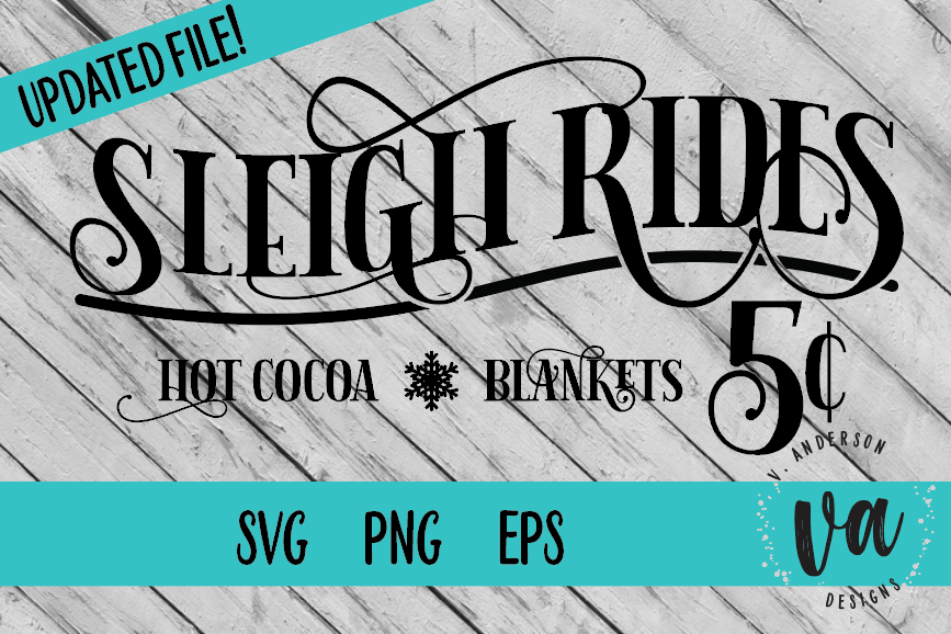 Sleigh Rides SVG example image 1
