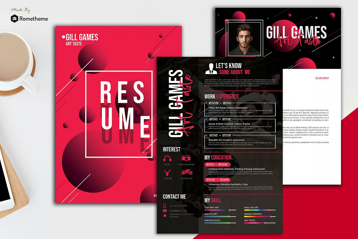 Clean Resume vol . 22 example image 1