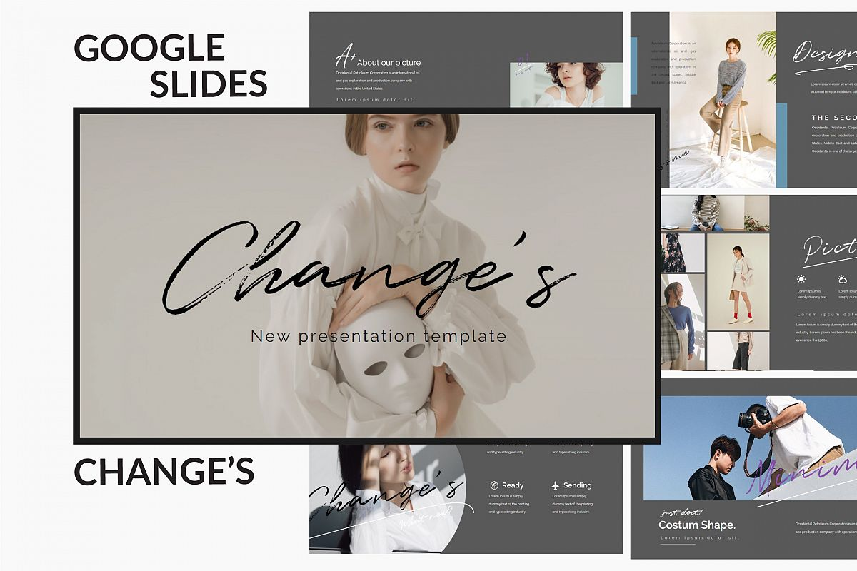 Change's - Fashion Google Slides Dark example image 1