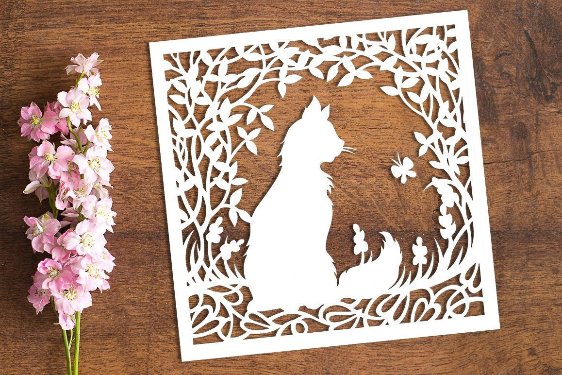 Watching - Paper Cutting Template example image 1