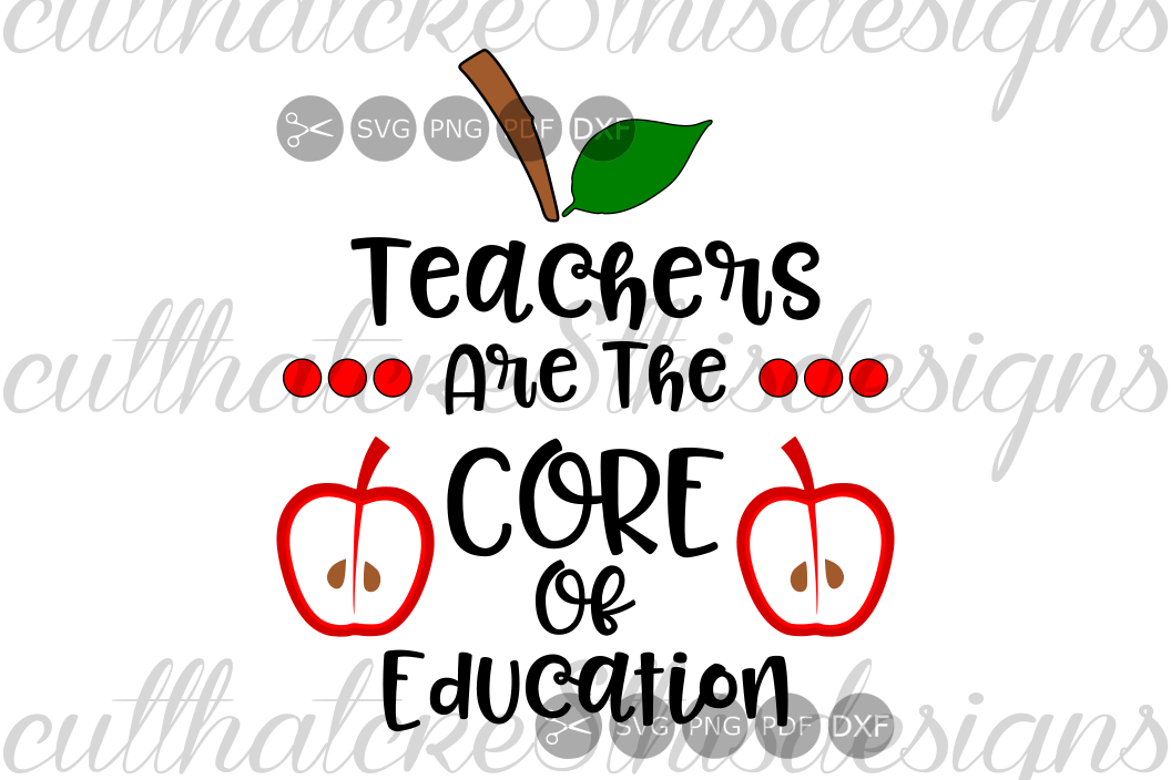 Teachers Are The Core Of Education, School, Apple, Quotes