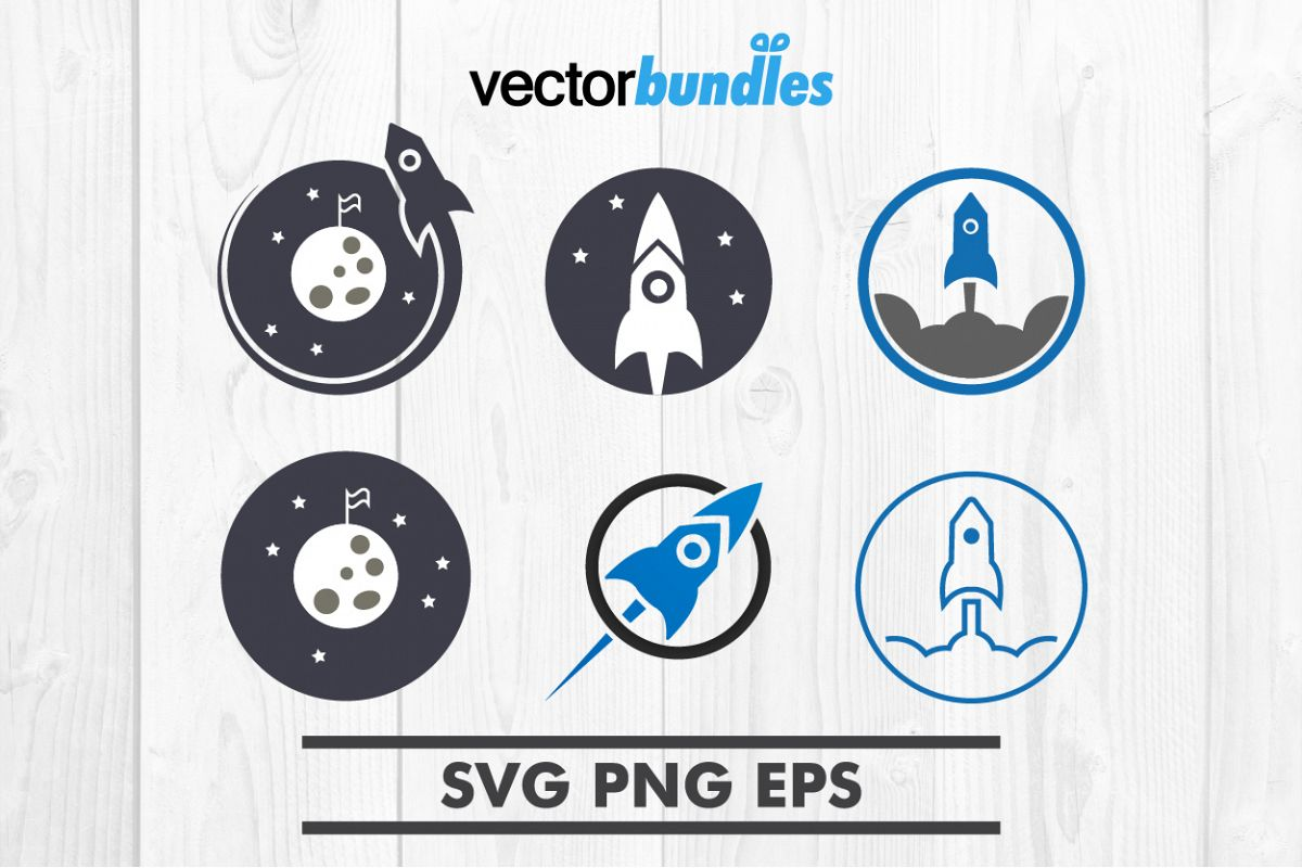 Rocket launching clip art svg example image 1