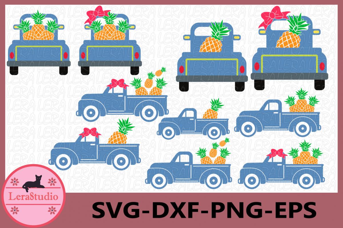 Pineapples SVG, Truck Svg, Truck Pineapples svg, Silhouette example image 1
