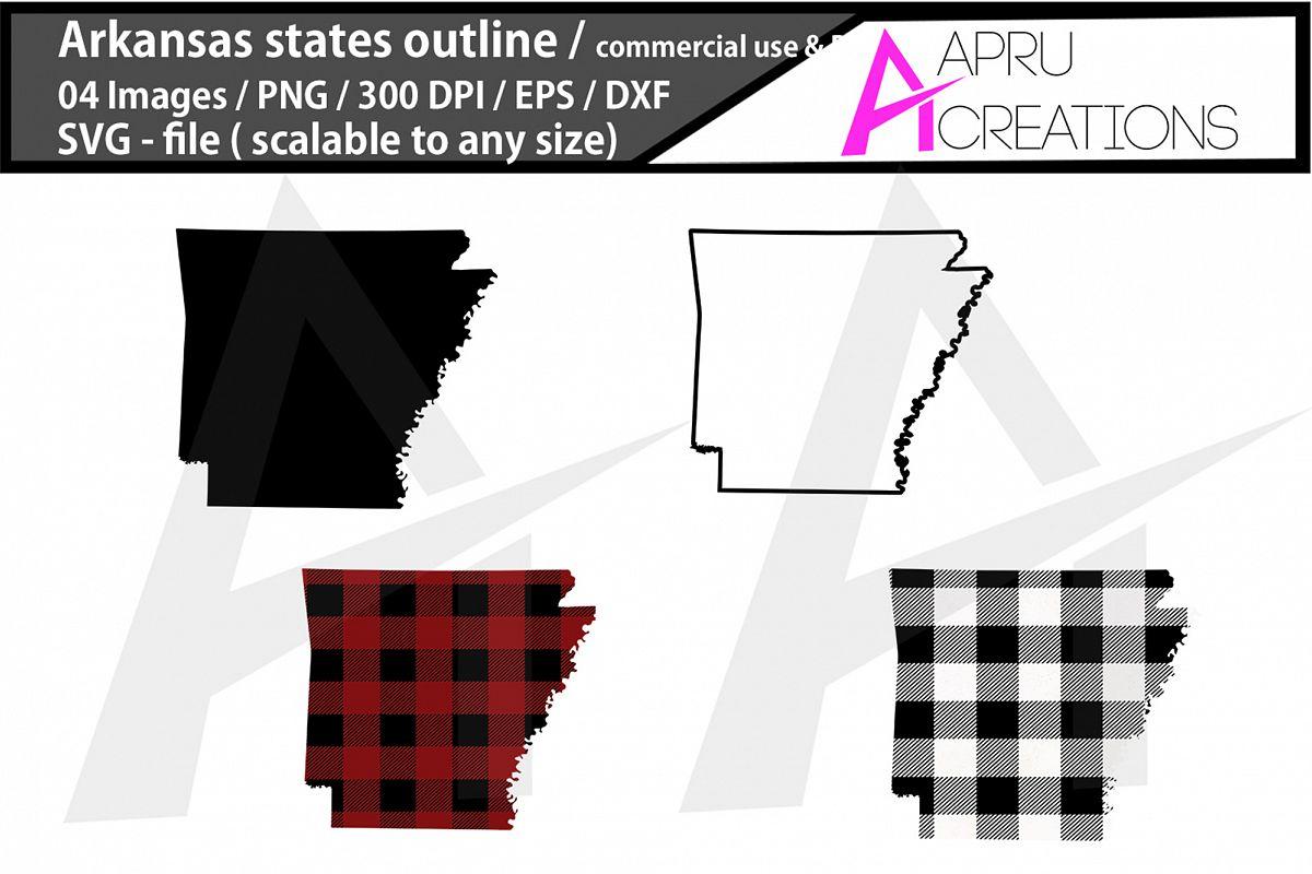 arkansas vector map / arkansas outline / arkansas plaid example image 1