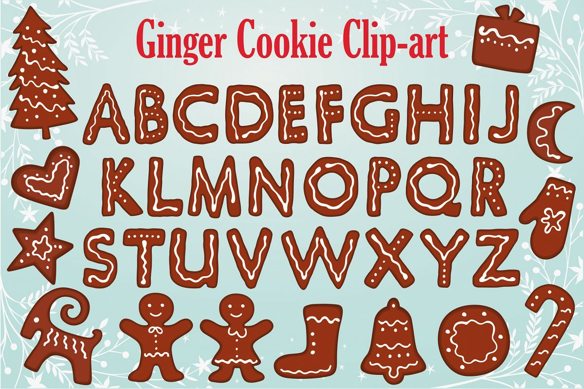 Gingerbread Clipart Collection example image 1