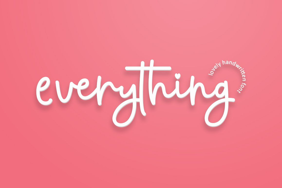 everything script font example image 1