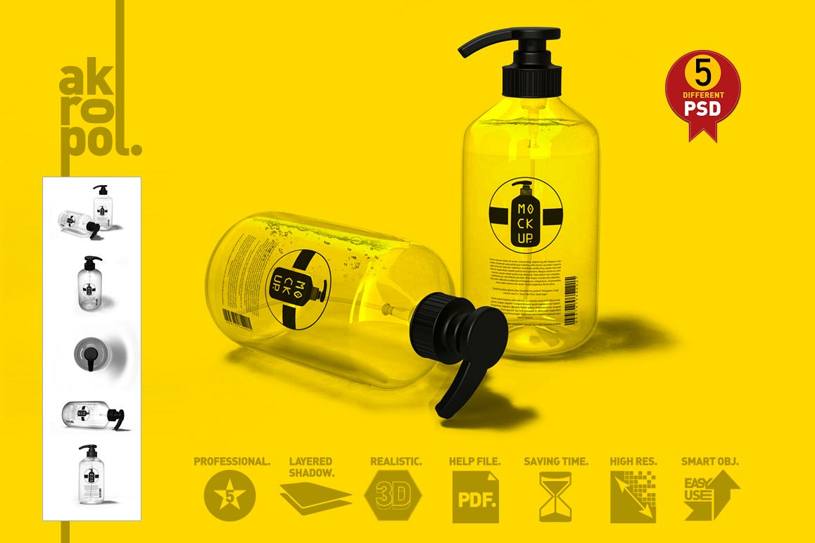 Pump Bottle Mock Up example image 1