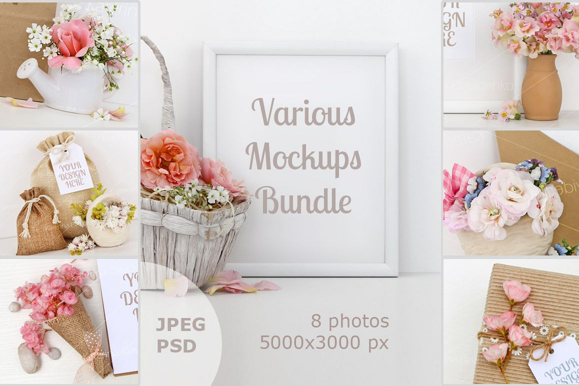 Mockups Bundle for your Graphics example image 1