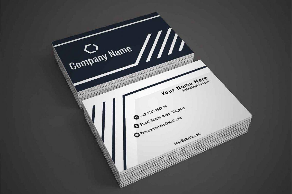 Dark Modern Business Card Template example image 1