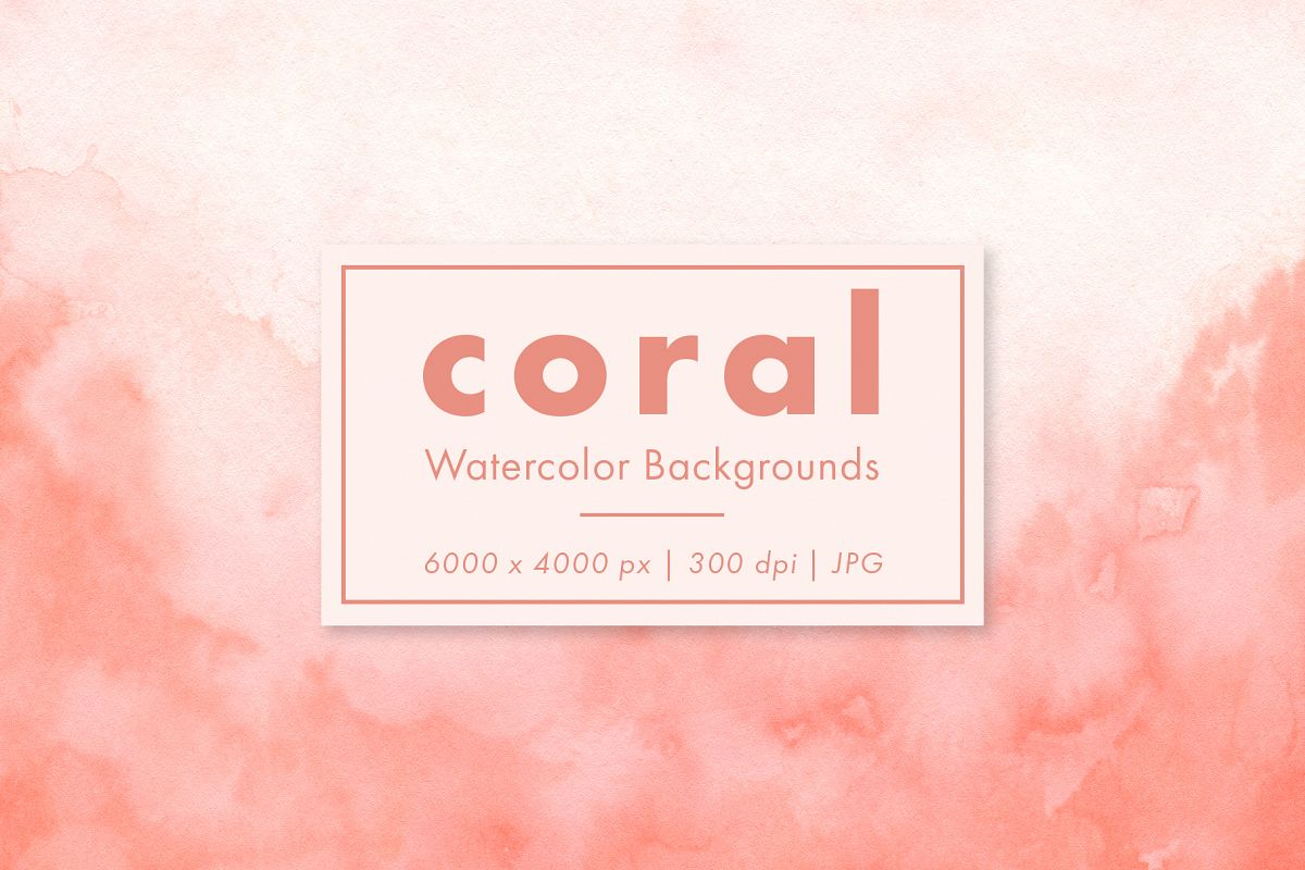 Coral Watercolor Backgrounds example image 1