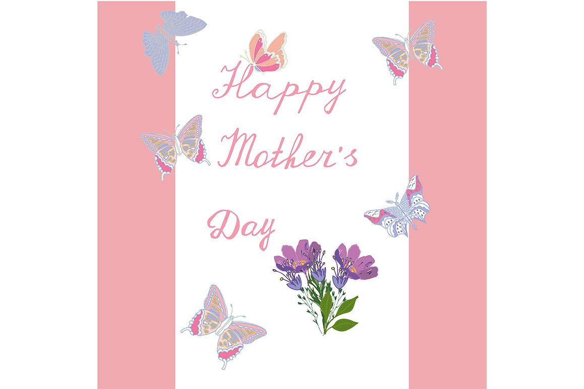 Property Mother's Day greeting card with flowers example image 1