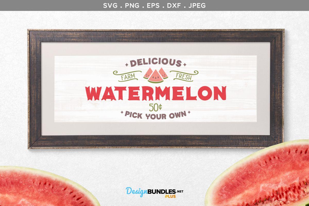 Delicious Watermelon - svg & printable example image 1