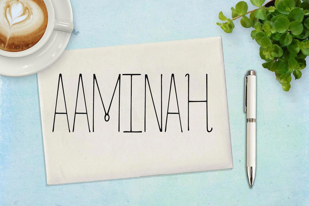 Aaminah Font example image 1