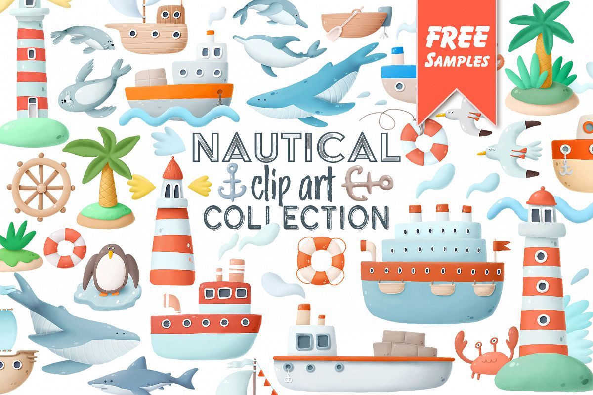 Nautical clip art collection example image 1