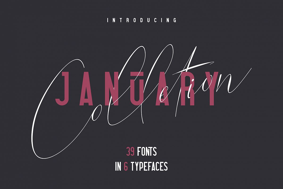 6in1 January Collection - 39 Fonts example image 1