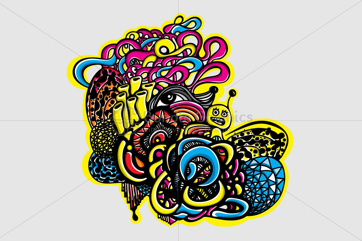 Snail Graffiti Vector Graphic Composition example image 1