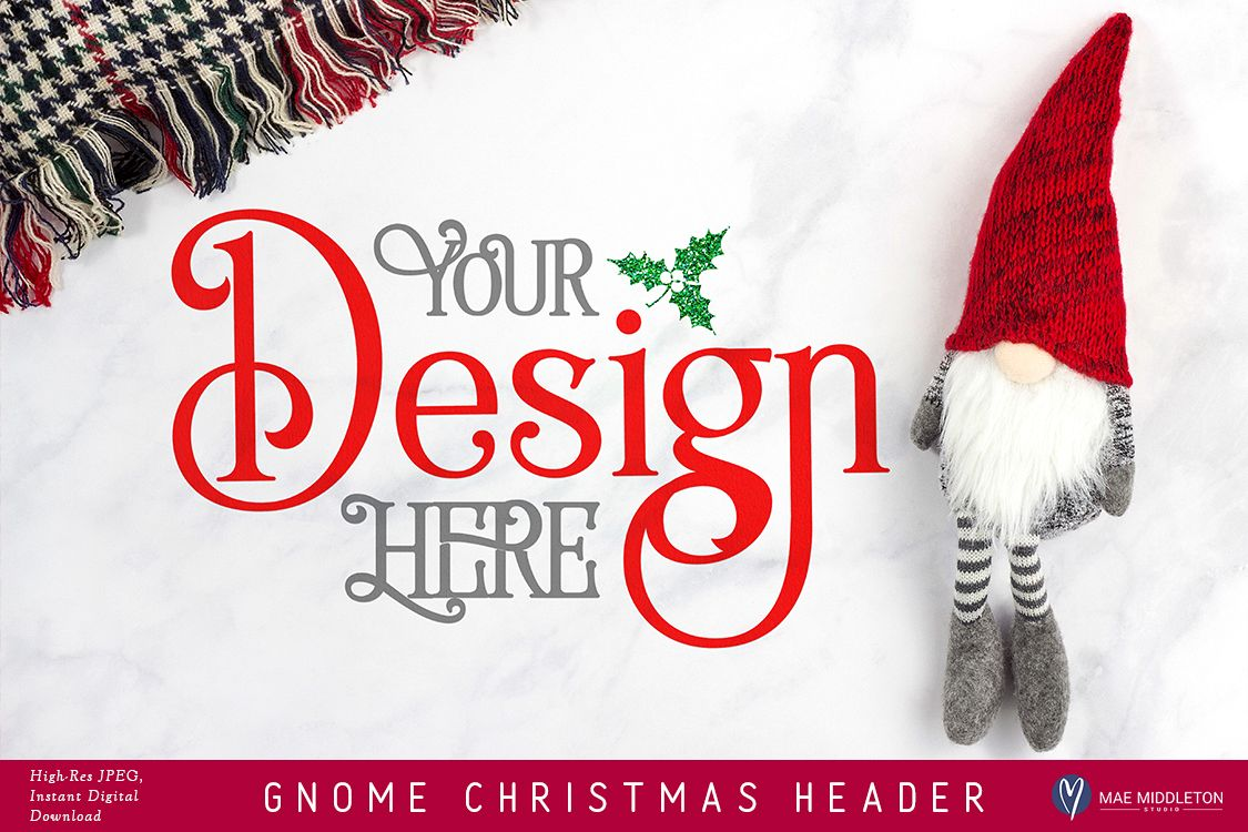 Christmas Header.Gnome Christmas Header