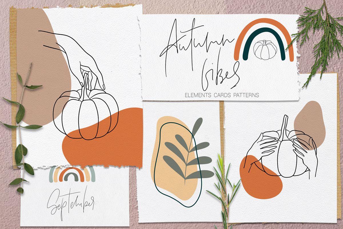 Autumn Vibes. Line art example image 1