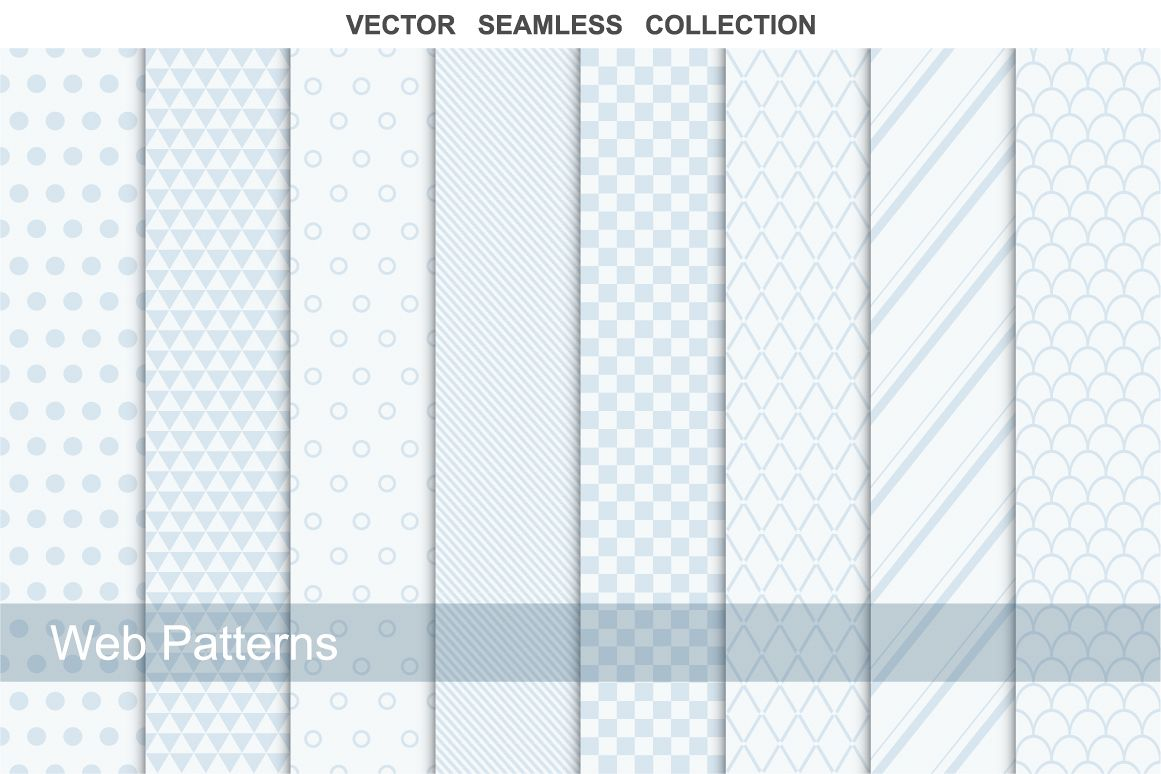Collection of web seamless patterns. example image 1
