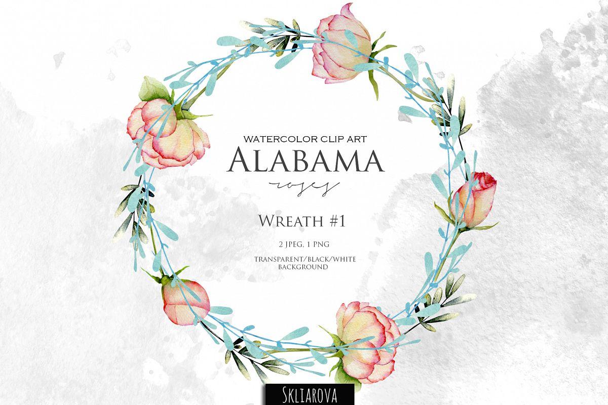 Alabama roses. Wreath #1 example image 1