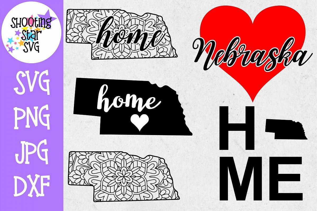Nebraska US State SVG Decal Bundle - 50 States SVG example image 1