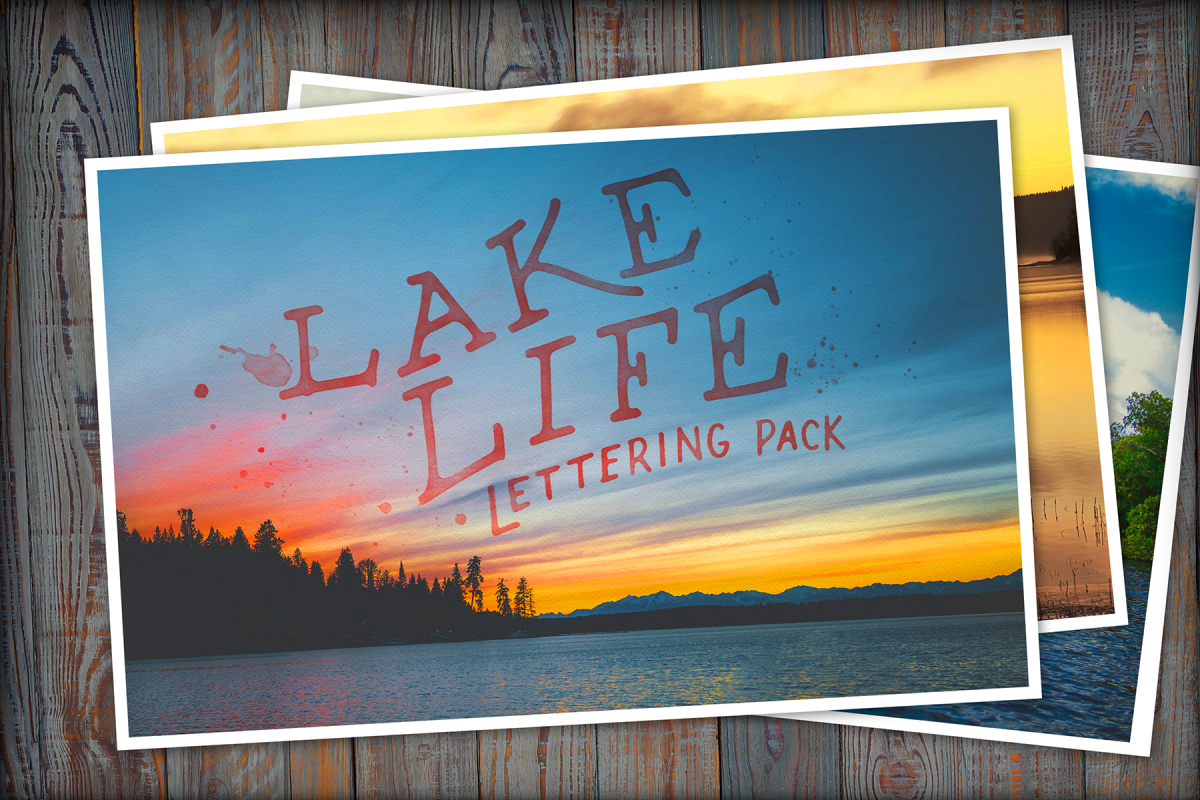 Lake Life Lettering Pack example image 1