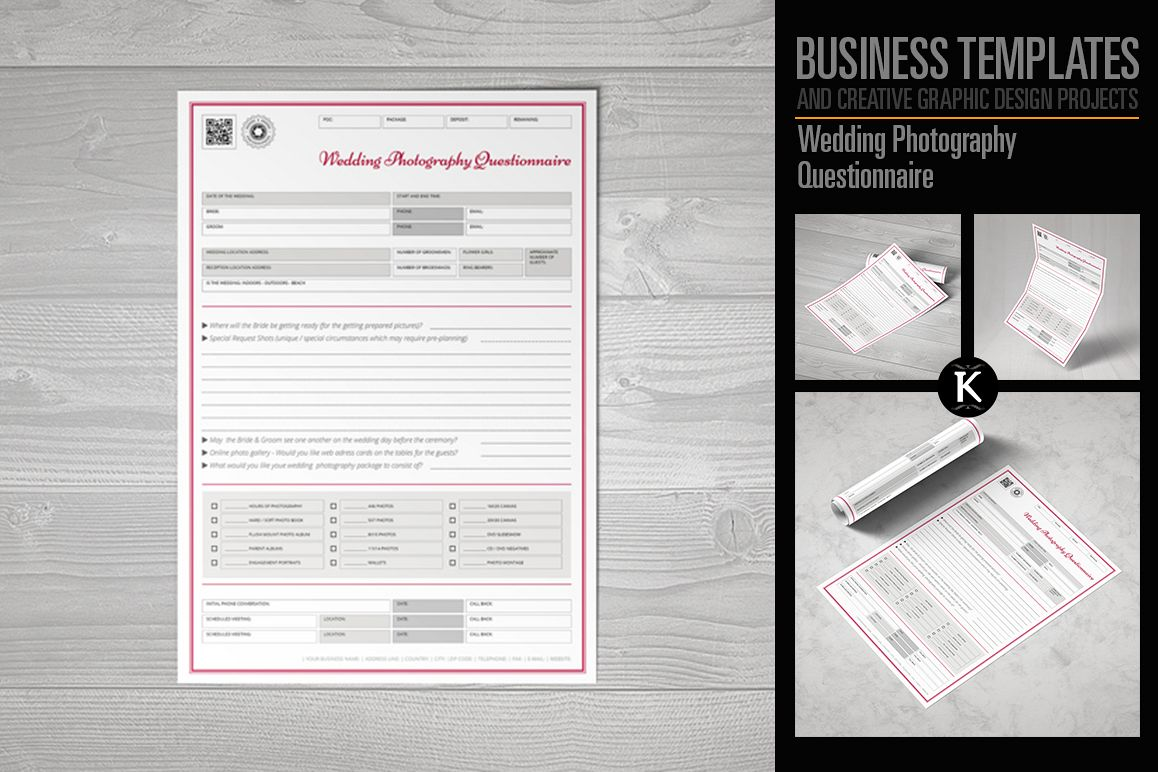 Wedding Photography Questionnaire example image 1