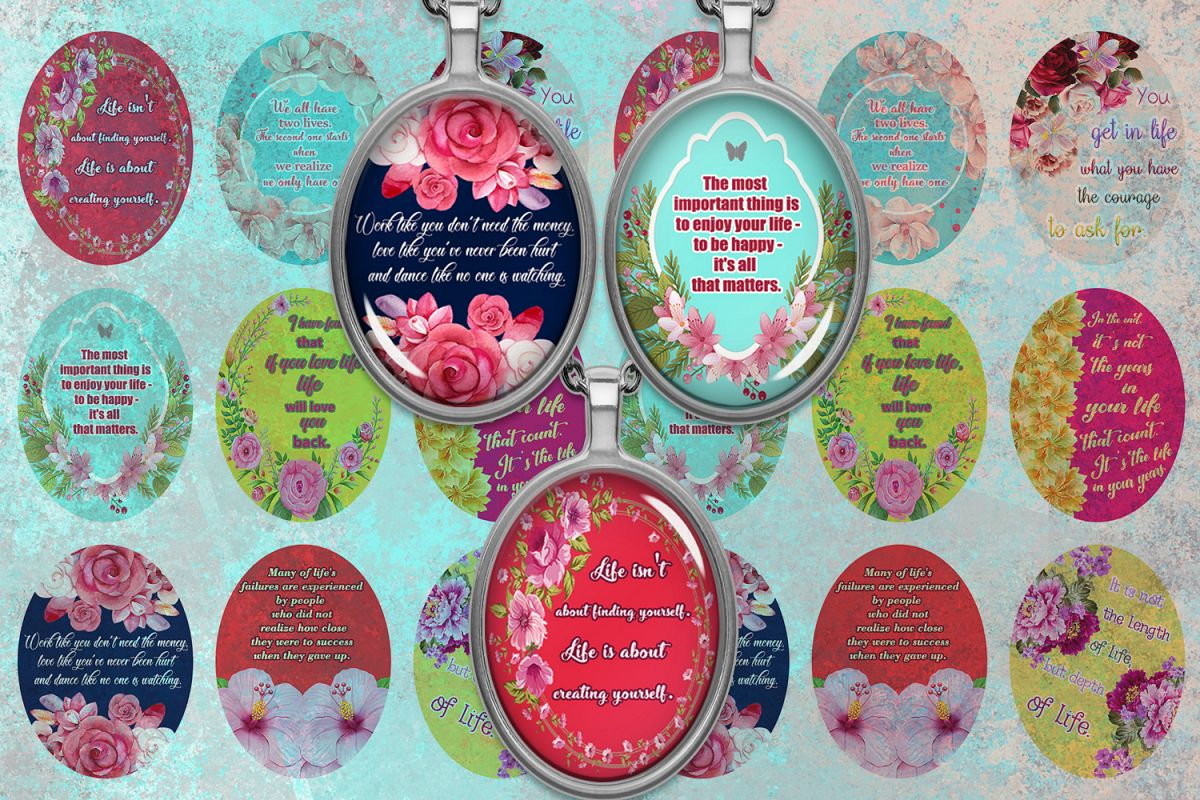 Quotes Digital Collage Sheet,Motivational Quotes,Life Quotes example image 1