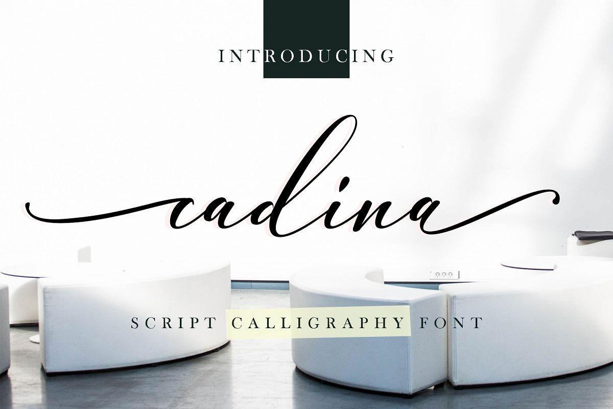 cadina script calligraphy example image 1