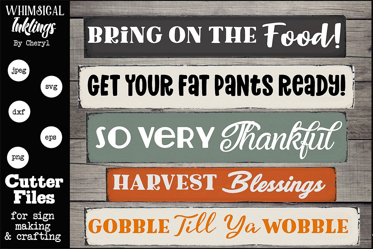 So Very Thankful-Thanksgiving SVG Set example image 1