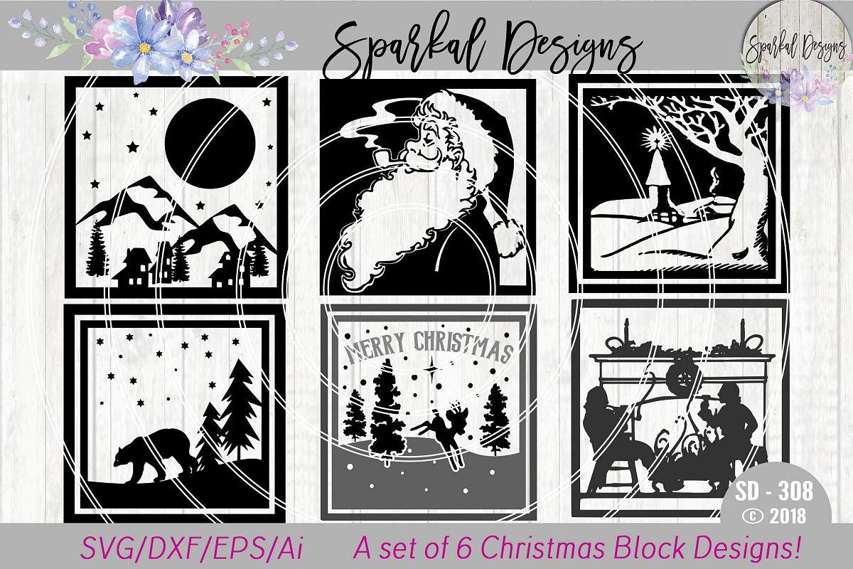 christmas glass block bundle a set of 6 christmas sign svg designs example image 1 - Christmas Glass Blocks