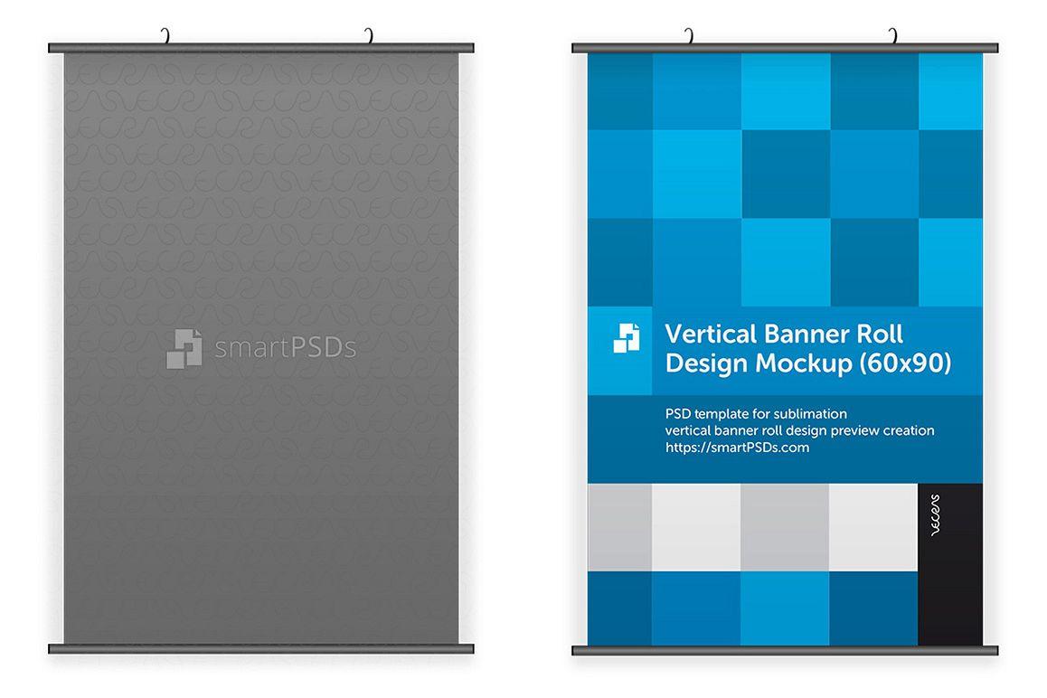 Vertical Banner Roll Design Mockup example image 1