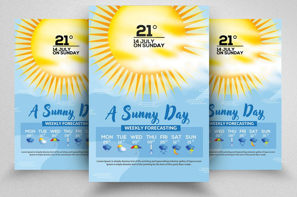 Weather Forcasting Flyer Template example image 1