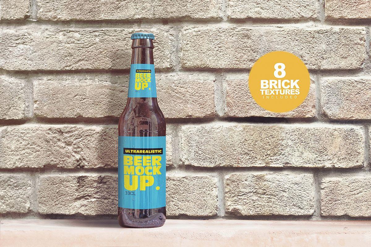 Brick Backgrounds Beer Mockup example image 1
