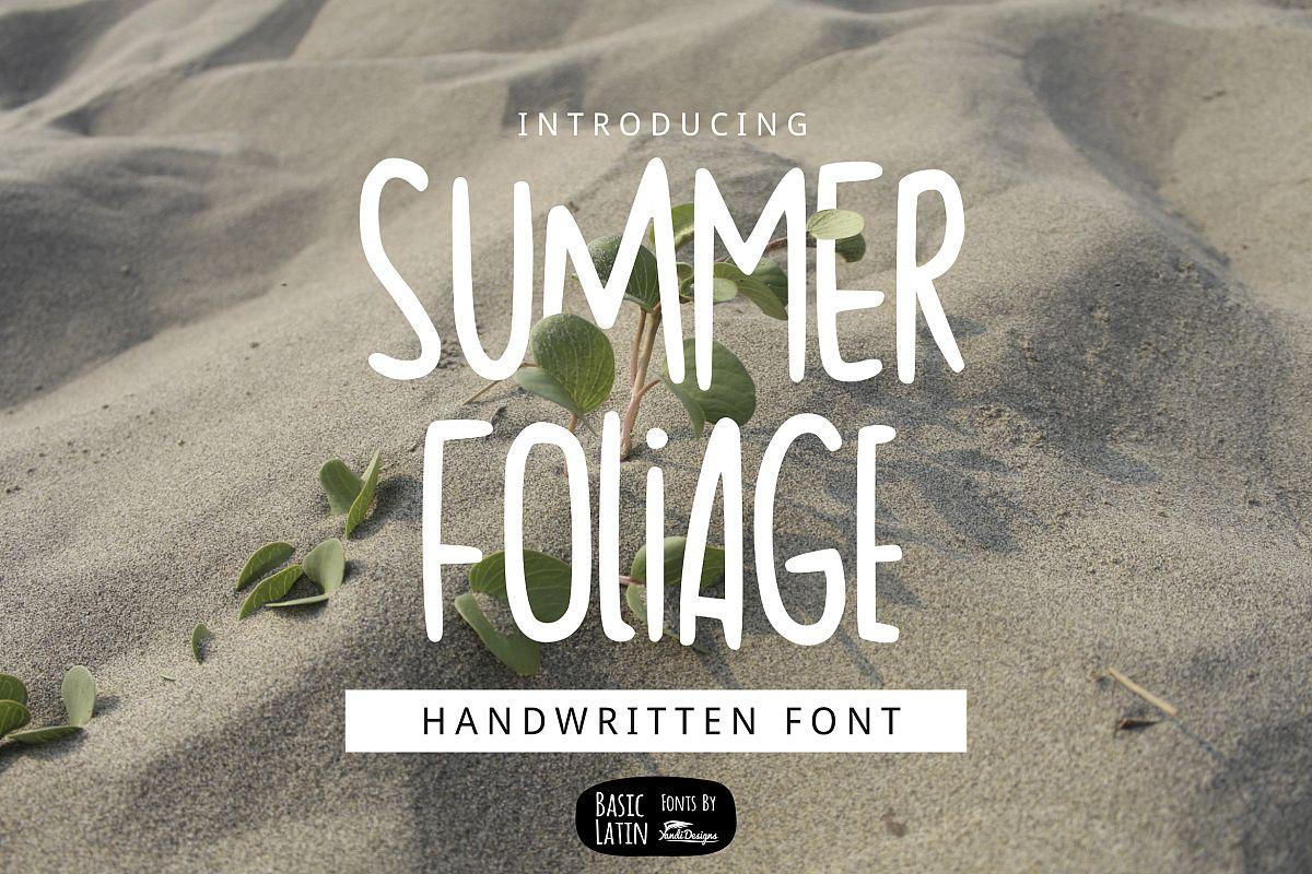 Summer Foliage Font example image 1