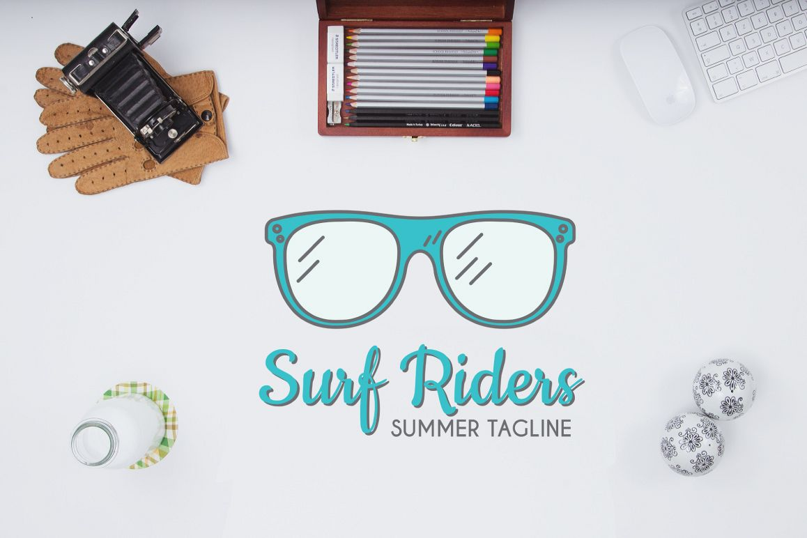 Surf Riders Logo Template example image 1
