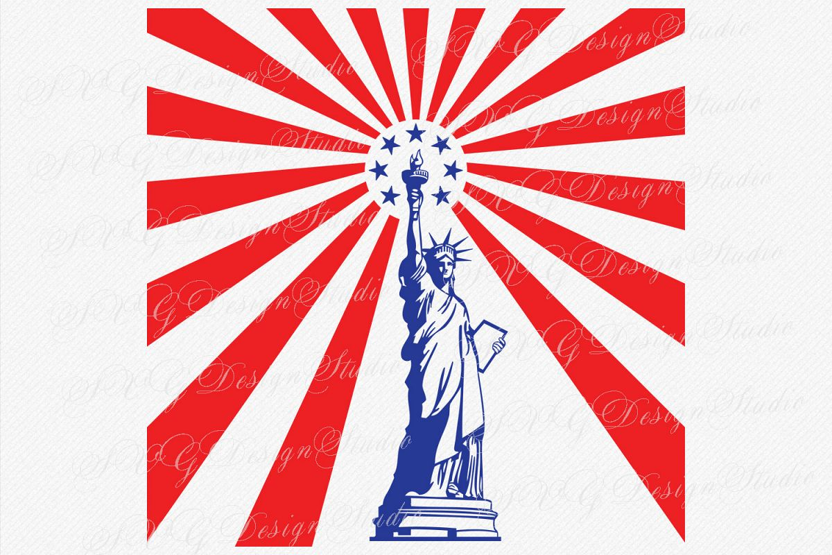 Liberty Statue SVG, Statue Of Liberty Vector, Monument svg New York City svg Freedom USA Independence Day example image 1