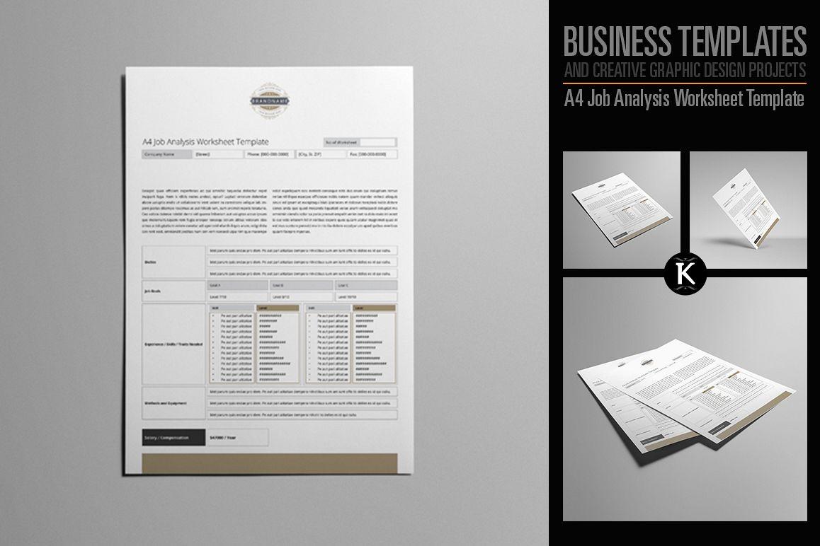 A4 Job Analysis Worksheet Template example image 1