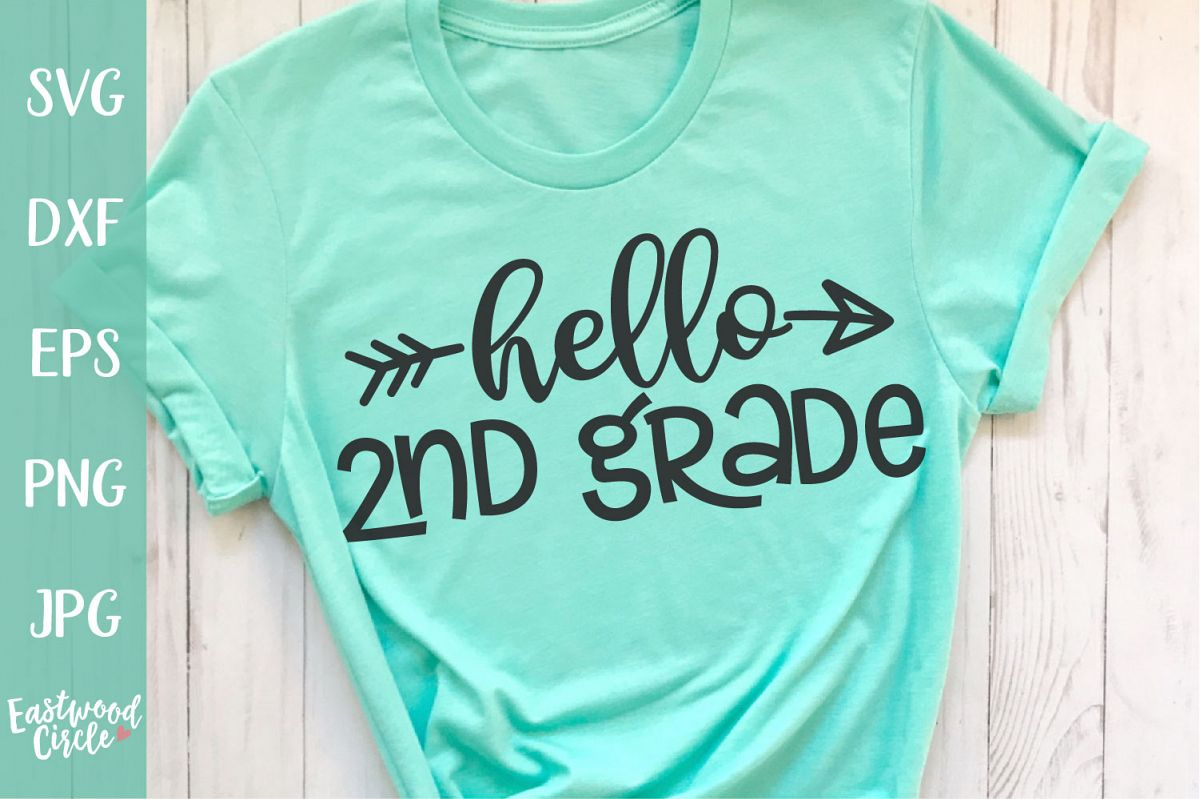 Hello 2nd Grade - School SVG for Crafters example image 1