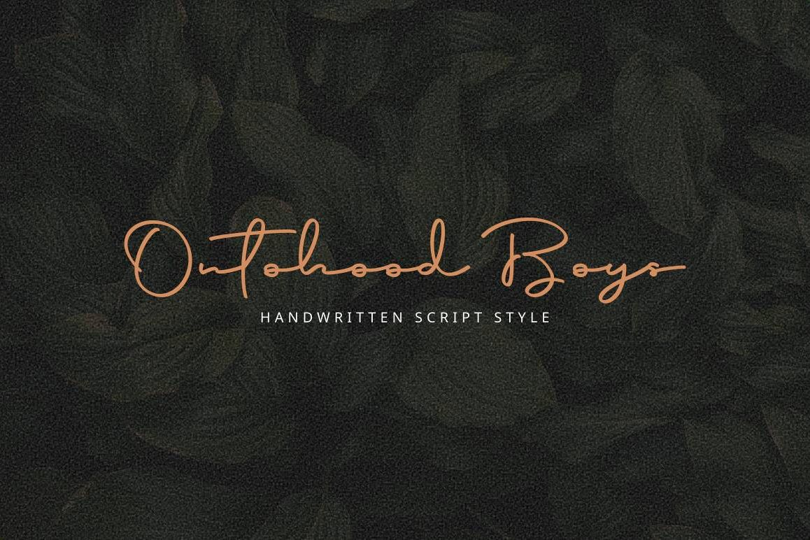 Script Font - Ontoohood Boys example image 1