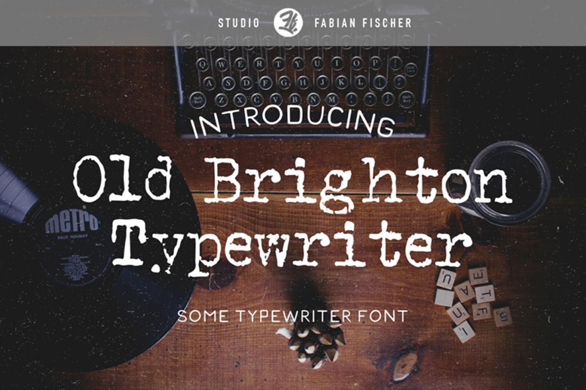 Old Brighton Typewriter - Font example image 1