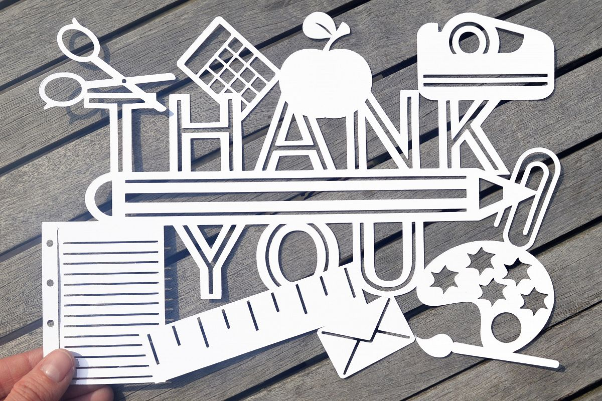 Teacher Thank you SVG / DXF / EPS Files example image 1