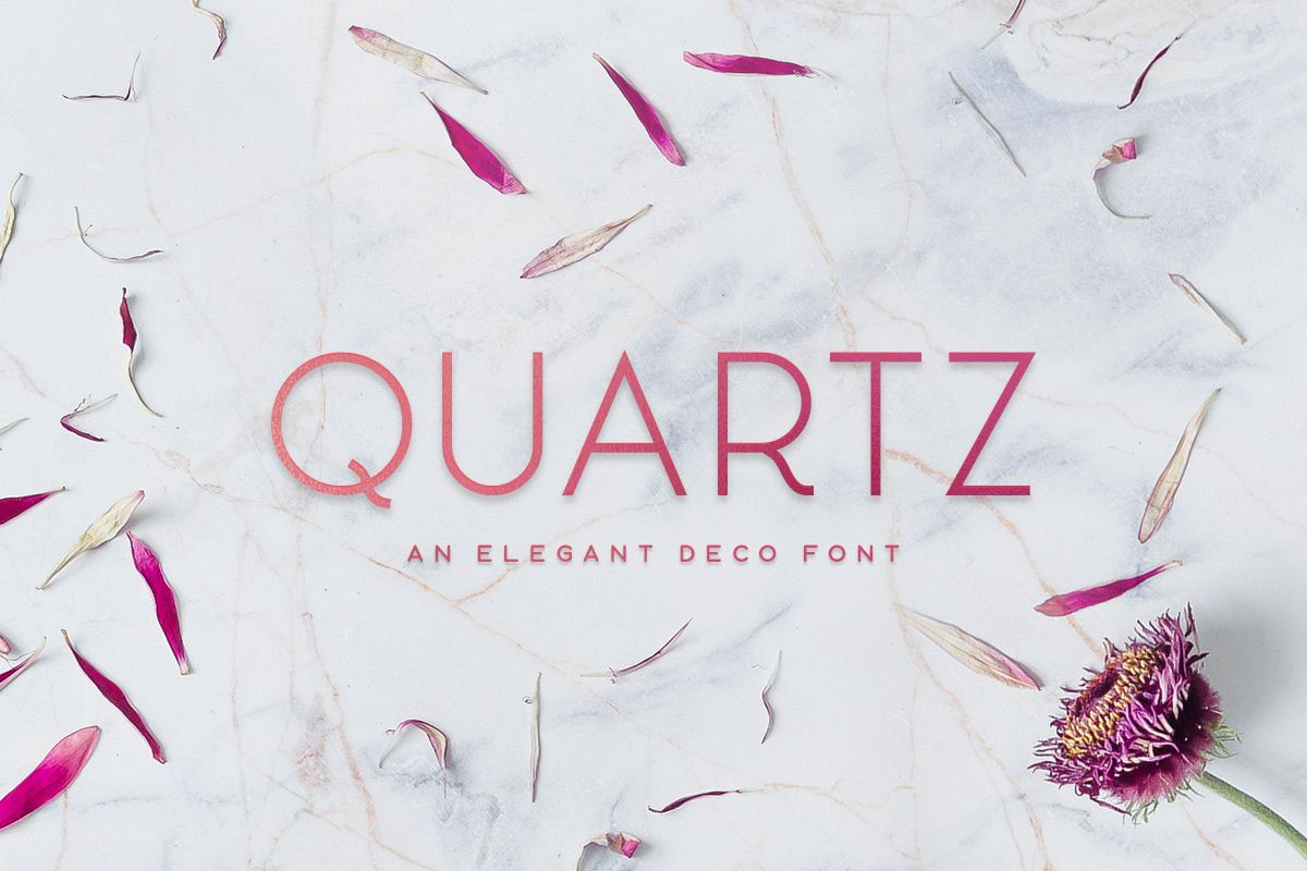 Quartz - Deco Font example image 1