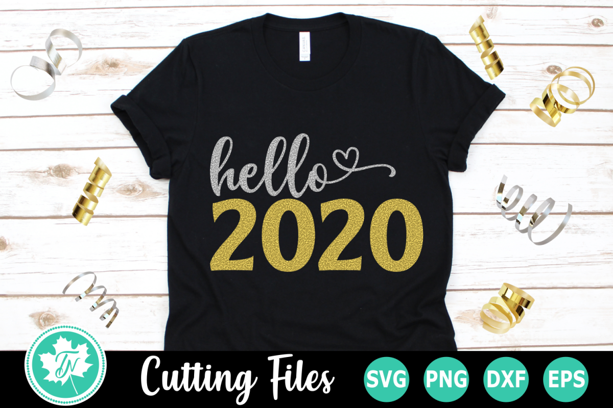 Hello 2020 - A New Year's SVG Cut File example image 1