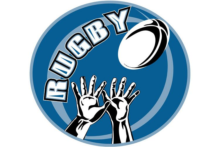 rugby player hands catch ball example image 1