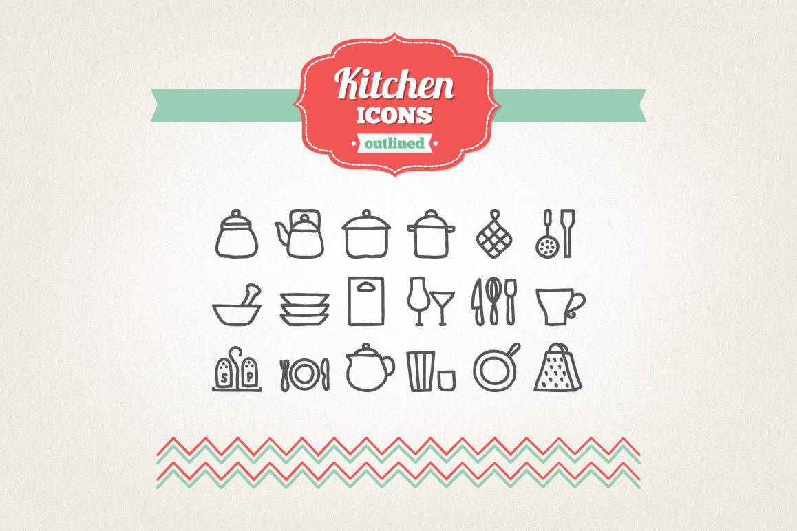 Hand Drawn Kitchen Icons example image 1