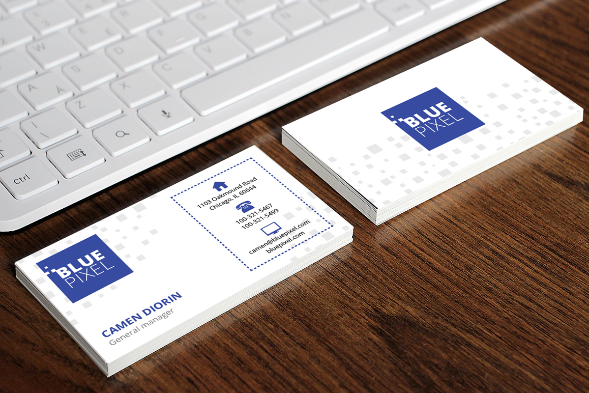 Blue Pixel Business Card example image 1